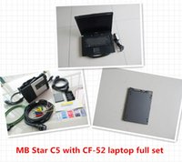 Wholesale Laptop Batteries Tester - Newest MB Star C5 SD Conenct c5 with laptop cf52 Toughbook diagnostic PC with xentry epc software V2017.07 ssd for benz cars and trucks