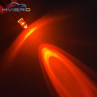 Wholesale Diode Led Orange 3mm - Wholesale- New 100pcs 3mm round top Orange Amber Led Ultra Bright Head Wide Angle light emitting water clear diode lamp New Wholesale