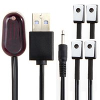 Wholesale Ir Usb Remote Extender - IR Extender 1 Receiver 4 Emitter Emitters Repeater System Kit Infrared Remote USB Adapter Transmit Control Signal UK Standard
