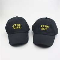 Wholesale Tall Stars - RARE Star Boy Girl hat snapback Baseball Cap The Weeknd Xo Embroidered Dad Hat Drake Kanye West star bou the weeknd