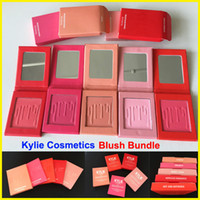 Wholesale New Kylie Jenner makeup matte pressed powder colors blush Kylie cosmetics Blush Bundle in stock