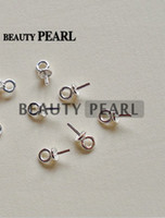 Bulk of 50 Pieces Beads End Connectors para encantos DIY Pearl Findings 925 Sterling Silver Bead Caps