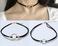 Wholesale Gothic Rings Chain - Collar neckband neck chain sexy metal ring clavicle chain wild temperament necklace Gothic choker necklace wholesale free shipping