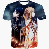 Wholesale Art Online Prints - Wholesale- Anime Sword Art Online T-shirts tees SAO t shirts Women Men Summer Casual tee shirts 3d t shirt