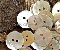 Wholesale Wholesale Shell Buttons - 1000pcs shiny Mother of Pearl Buttons in mixed sizes(9mm-18mm)- Shell Buttons beads sampler pack