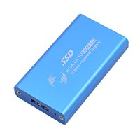 Aluminum ssd drivers - Classic blue High Speed gb s Optibay mSATA to USB External HDD Hard Disk Driver Enclosure Box Support GB TB SSD Adapter