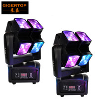 Wholesale Iec Leads - Freeshipping 2 Pack Led Cube Moving Head Beam Light DMX SOUND Music Auto control LCD Display IEC Power Socket 3 Pin DMX PIN Con
