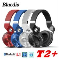 2017 Comercio al por mayor Original Bluedio T2 Auriculares Inalámbricos Bluetooth 4.1 Stereo Headset Plegable Estirable Soporte Tarjeta TF FM Bass HIFI