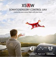 Wholesale Helicopter Landing - SYMA X5UW RC Drone 720P WIFI FPV Camera Helicopter Height Hold One Key Land 2.4G 4CH 6Axis RC Quadcopter With 4GB Micro SD Card