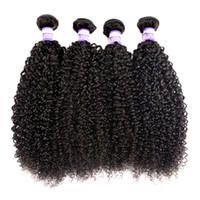 Wholesale Virgin Kinky Weft - 10A Brazilian Kinky Curly Virgin Hair 3 4 Bundles Indian Malaysian Indian Mongolian Kinky Curly Hair Unprocessed Curly Weave Human Hair