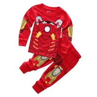 Wholesale Child Pyjamas - marvel kids clothing set 2-7 yrs boy iron man pyjama fille enfant children captain america vetement pijama menino boys sleepwear
