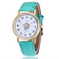 marcas de relojes de señora vintage al por mayor-2017 Vansvar Marca Reloj Astronomía Vintage Moda Casual Señoras Mujeres Relojes de Pulsera Reloj de Cuarzo de Cuero Vintage