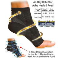 Wholesale Women S Fashion Socks - Wholesale- 1pair 2016 Unisex Women Fashion NEW Foot Ankle Compression Socks Anti Fatigue Varicose Feet Sleeve(1.S M 2.L XL) Free Shipping