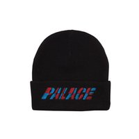 Wholesale Caps Skateboards - 2017 Palace Skateboards beanie hat cap Kanye West Off White winter beanie knitted skullies vogue Ski beanies