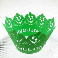 Wholesale Muffin Case Green - Green Cupcake Wrappings Pearl Paper Shinning Muffin Case Holder Wed Birthday Children's Day Party Cupcake Packing