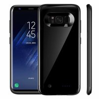 Wholesale Extended Cases - New ultra-thin 5200mAh Extended Power Cover Fast Backup Charger case for samsung galaxy S8 S8plus