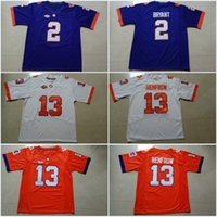 Wholesale Kelly Manning - Custom Clemson Tigers #2 Kelly Bryant #13 Hunter Renfrow #5 Tee Higgins #3 Amari Rodger College Football Stitched Jerseys Free Shipping