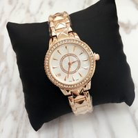 Wholesale Top Fashioned Designs Dresses - Top design Luxury Women watch Lady noble female quartz Steel Bracelet Chain rose Dress Watch with diamond Japan Movement wholesale price