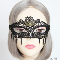 Schwarze Prinzessin Party Dekorationen Kaufen -Masquerade Masken Frauen Cosplay Party Dekoration Prinzessin Black Lace Niet Quaste Vintage Eyes Schleier Halbe Gesichtsmaske für Damen