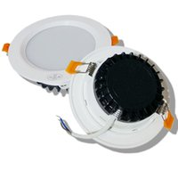 Wholesale Downlight Frame - Wholesale- Led Downlight 3w 5w  7w 9w12w Ceiling Recessed Light white Frame Warm Nature Cool White AC220v dont need use transformer