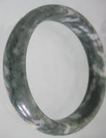 pulsera de jade negro verde al por mayor-2017 NUEVA Guizhou Hermoso negro jade piedra verde Brazaletes al por mayor y al por menor joyería de moda brazaletes de jade ENVÍO GRATIS