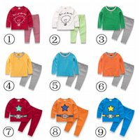 sport suits for the boys - INS Girls nightclothes Set Suit Long Sleeve sleepwear For The Baby Girl And Boys Children Clothing Sport Sets Two Pieces Spring Autumn