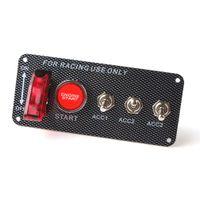 панели зажигания оптовых-Гоночный автомобиль 12 В переключатель зажигания панели запуска двигателя кнопка LED тумблер AUP_212