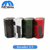 Authentic Tesla Invader 2/3 Box Mod 240W 360W Einstellbare Spannung Unreguliert Vape Mod fit Cigpet ECO12 Tank 100% Original