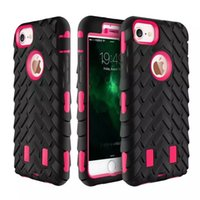 Wholesale Armor Tire - Fashion Tyre Tire Tread case for iphone 4 4s Hard PC Silicone Armor Robot Heavy Duty Defender phone cases Antiskid Shockproof