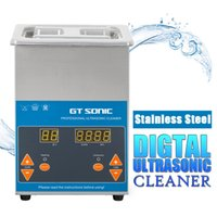 Wholesale Digital Heated Ultrasonic Cleaner - Wholesale-50W 1.7L Digital Display Ultrasonic Cleaner Timer Heating Setting Bath Cleanning Jewelry Watch Glasses Circuit Stainless Steel