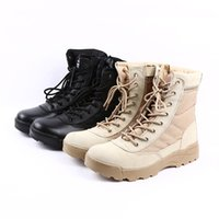 Wholesale desert Tactical Military Boots SWAT Combat Boots Army Boots Militares Men Shoes Work Outdoor Climbing Men Botas SWAT