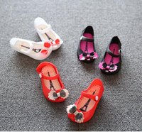 Wholesale Jelly Color Boots - Girls Sandals 2017 Summer Newest Cute Girls Baby Kids Detailed Jelly Bowknot Fish Mouth Sandals Boots Shoes Baby Shoes 314