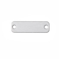 Wholesale Bracelet Making Blanks - Simple Design Antique Silver Plated Double Sided Rectangle Blank Stamping Tag Bracelet Connector Charms For DIY Making Jewelry