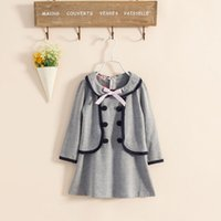 Wholesale Euro Style Turn Down Collar - children dress in euro-preppy