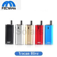Wholesale Metal Connectors - Authentic Yocan Hive Kit Wax Vape Box Mod Starter Kit 650mAh Lipo Box Mod with Magnetic Connector 2 in 1 CE3