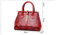 Wholesale Chinese Ladies Dresses - 2016 Fashion Embossed Leather Women Handbag Quality Leather Women Bag Vintage Shoulder Bag Chinese Style Ladies Bag sac a main