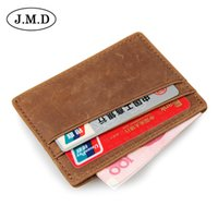 Wholesale Korean Fashion Simple For Men - 10pcs lot J.M.D Leather Coin Purse cards holder simple small wallets RFID shielding Credit package for men 8101