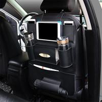 Wholesale High Back Car Seats - High Quality PU Leather Car Seat Back Organizer Sundries Holder Multi-Pocket Travel Storage Bag Hanger Backseat Organizing Bags