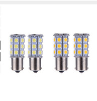 Wholesale Led 156 - 100PCS 156 5050 27SMD LED Xenon Bulb Auto Brake Reversing Turn Signal Lights Parking Lamps Car Light Source DC12V S25