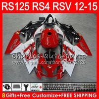 aprilia rsv weiße verkleidungen großhandel-Einspritzung für Aprilia RS4 RSV125 RS125 12 13 14 15 RS125R 12-15 RS-125 Rot Weiß 72NO17 RS125RR RSV 125 RS 125 2012 2013 2014 2015 Verkleidung