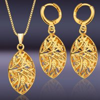 Amazon 18K Gold Middle East Jewelry Set Conjuntos de brincos Gold African Necklace, jóias femininas S20137 Atacado