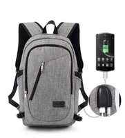 "Wholesale Usb 36 - landyhouse 18"" Business Laptop Men Backpacks Anti Theft Notebook College School Travel Shoulder Bags w  USB Charging Port External"