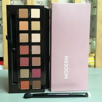 Wholesale Modern Shadow - Ship in 24hrs! Modern Eye shadow Palette 14colors limited eye shadow palette with brush pink eyeshadow palette