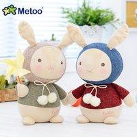 Wholesale Knitting Wool Dolls - Wholesale- 7.9 Inch Plush Cute Stuffed Brinquedos Baby Kids Toys for Girls Birthday Christmas Gift Bonecas knitting Wool Rabbit Metoo Doll