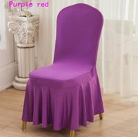 Wholesale Wholesale Lycra Skirt - Lycra Spandex Dining Chair Cover Skirt Cover For Wedding Party Banquet Hotel Decoration Chair Cover DHL