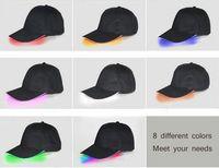Wholesale Orange Light Shade - New Korean version of the led light hat summer new baseball cap fiber optic sunscreen light shade cap