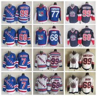 Wholesale rangers ccm jersey - Men 77 Phil Esposito Jersey 99 Wayne Gretzky 68 Jaromir Jagr 7 Rod Gilbert New York Rangers Vintage Jerseys Ice Hockey CCM