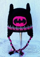 Batman Super Hero Neugeborenes Kleinkind Strickmütze Baby Jungen Mädchen Kinder Cartoon Tier Hut Winter Halloween Cosplay Kinder Beanie Baumwolle