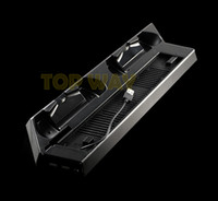 Wholesale slim port usb hub - Multifunctional USB HUB Charger Ports For PS4 Slim Vertical Stand Cooling Fan Charging Stand for Playstation 4 PS4 slim Controller