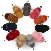 Wholesale Wholesale Baby Walkers Prices - Factory price 11 colors baby kids moccasins soft sole tassel toddler shoes Baby First Walkers Matte texture Baby newborn shoes wholesale